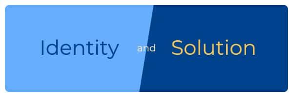 Identity vs Solution banner