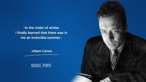 Positive affirmation quote by Albert Camus