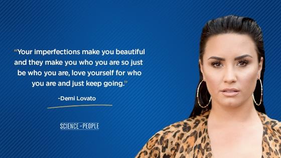 Demi Lovato possitve affirmations quote