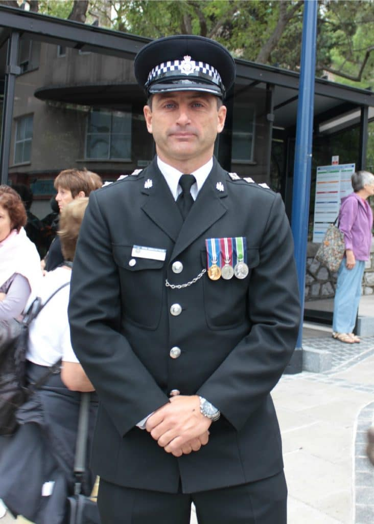 police officer wearing decorations