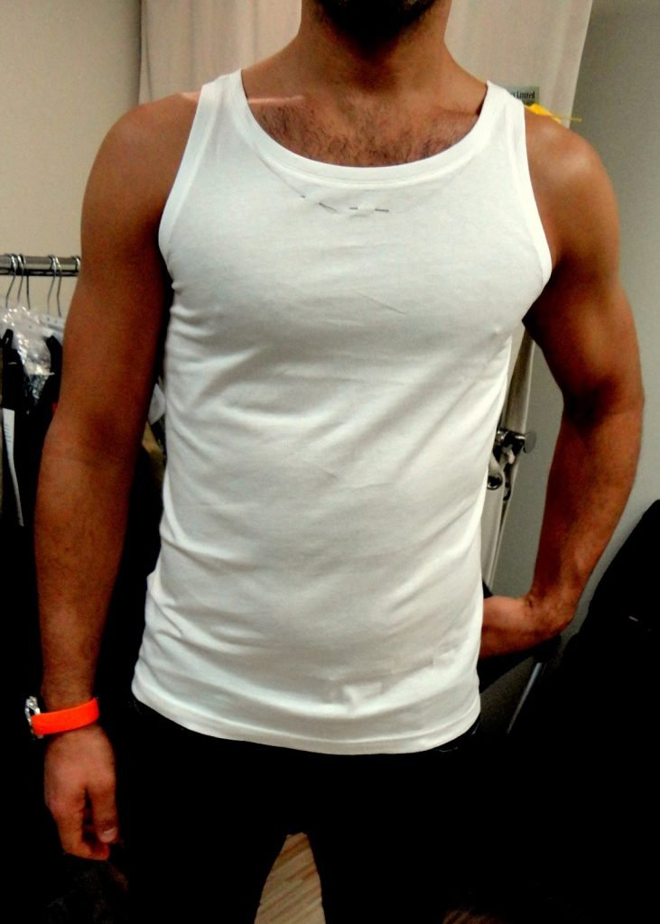 man torso showing off how muscular he is