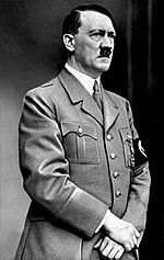 Adolf Hitler with Hands Over Groin