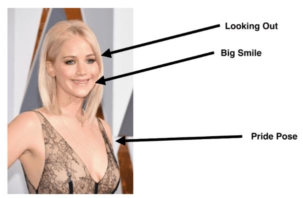 Jennifer Lawrence exuding confidence