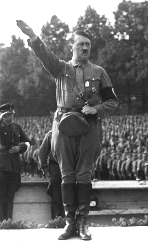 Adolf Hitler making the Nazi salute