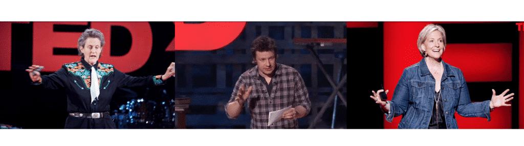 Ted speakers making hand gestures