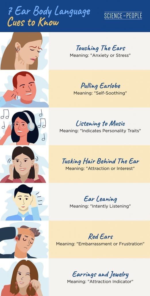 7 Ear Body Language Cues to Know graphic