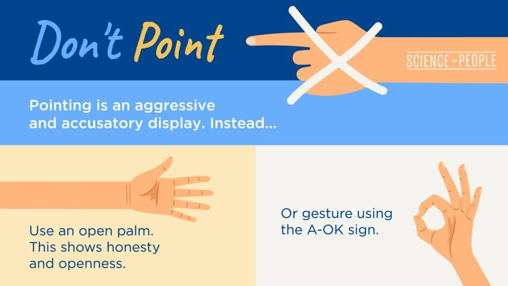 Don't point infographic