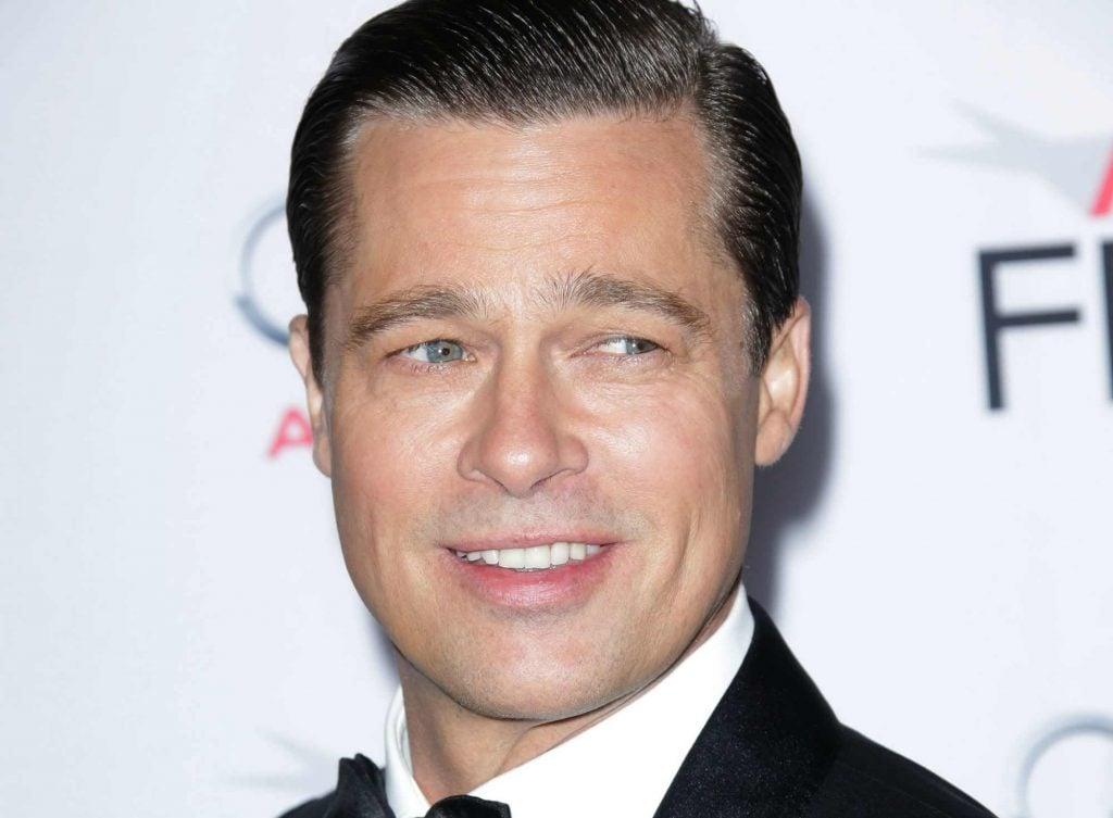 Portrait of Brad Pitt smiling