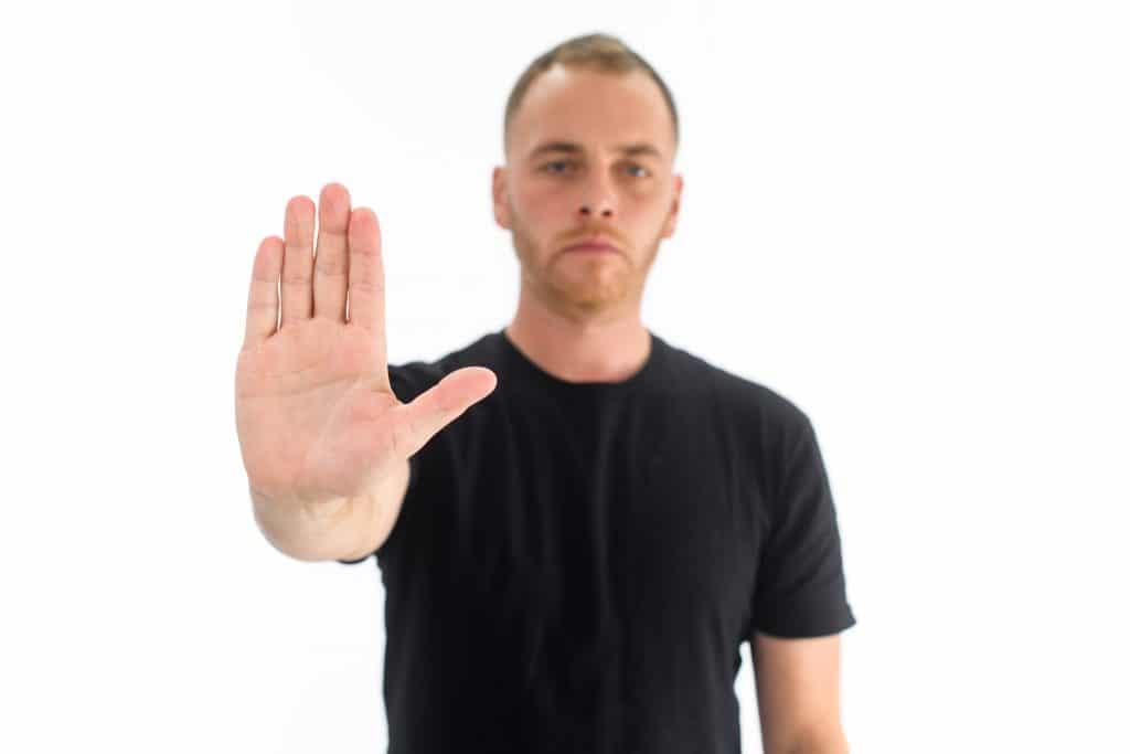 Stop body language cue