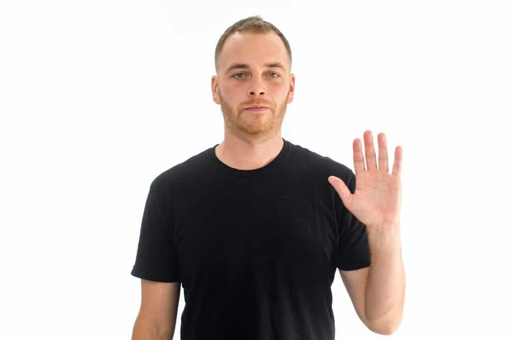 The single wave body language cue