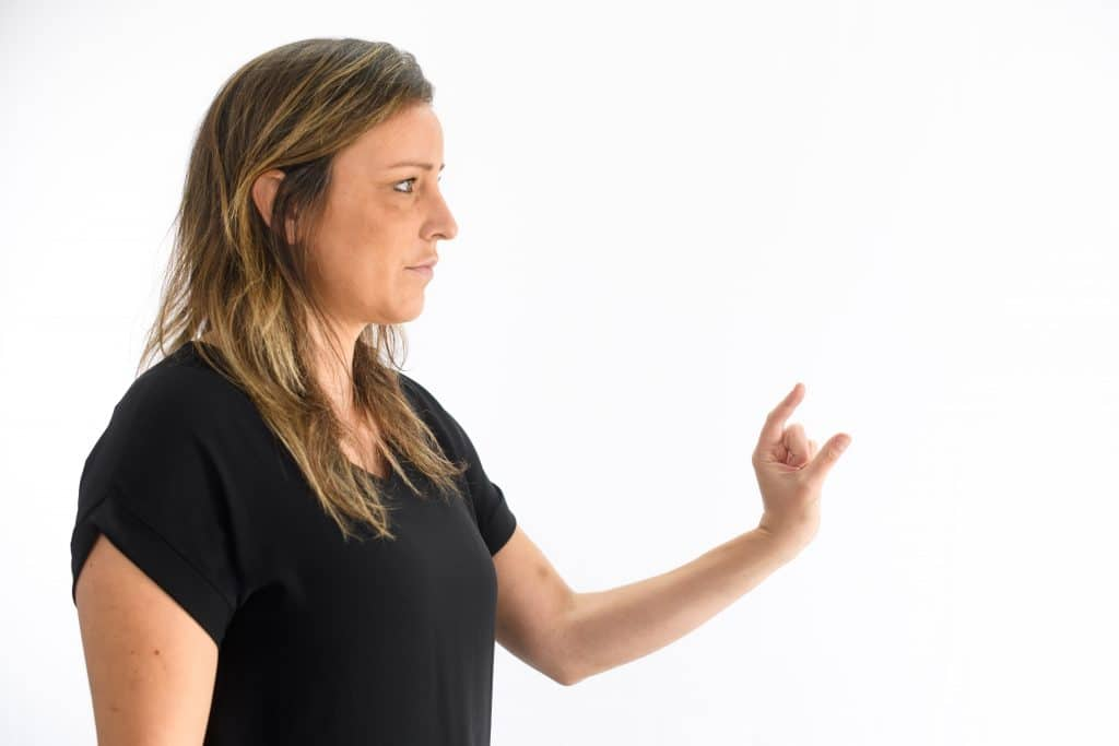 Measuring hand body language cue
