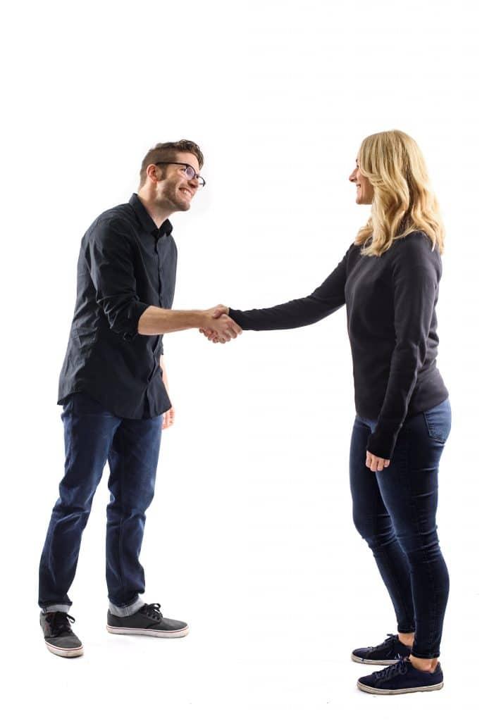 The handshake body language cue