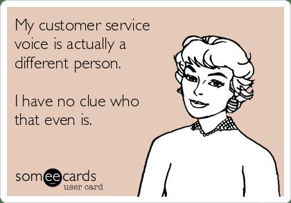 Customer service voice quote