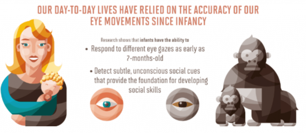 Our day to day lives relied on the accuracy of your eye movements since infancy