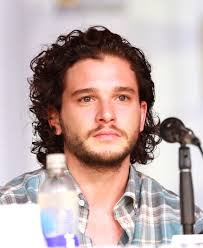 Actor Kit Harington with his resting sad face
