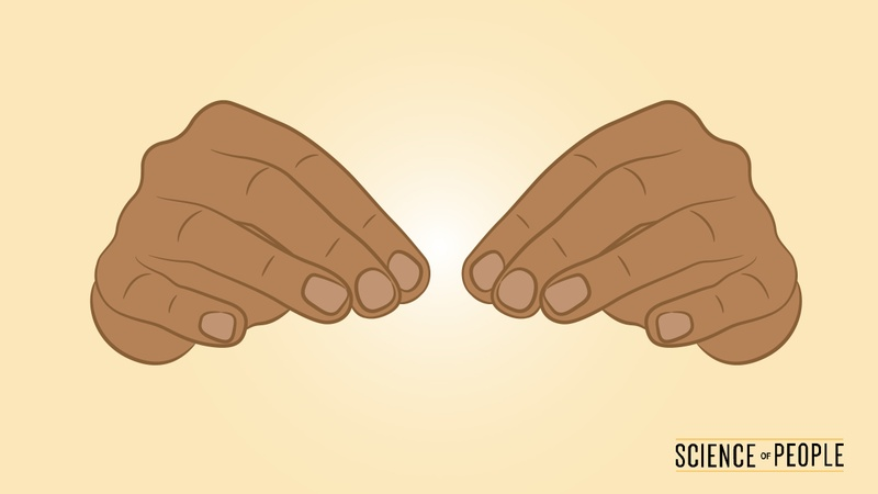 Illustration of hands resting lightly on a table