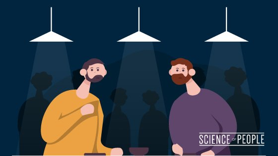 2 people seeking someone else to chat at a social event, instead of chatting with each other