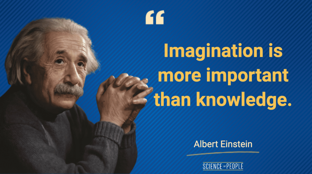 """""""Imagination is more important than knowledge"""" - Albert Einstein Quote"""
