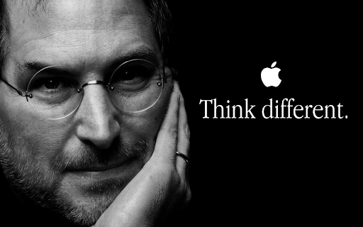 Apple ad Think Different showing Steve Job's face