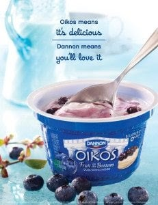 Image of a yogurth with fruit