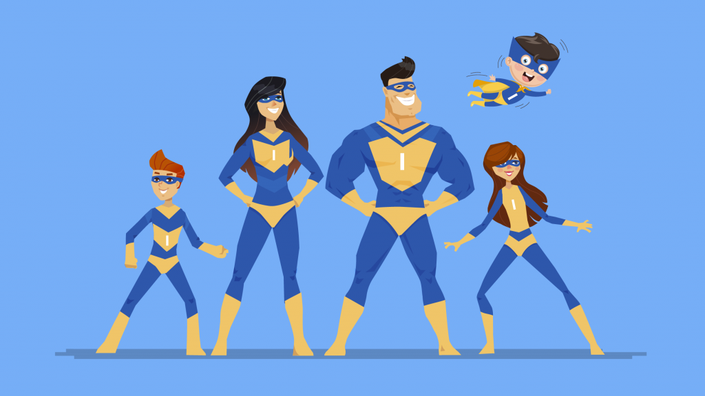 Graphic of The Indispensables (our indispensable superheroes)