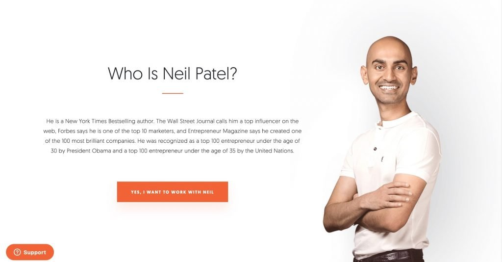 Neil Patel crossing his arms