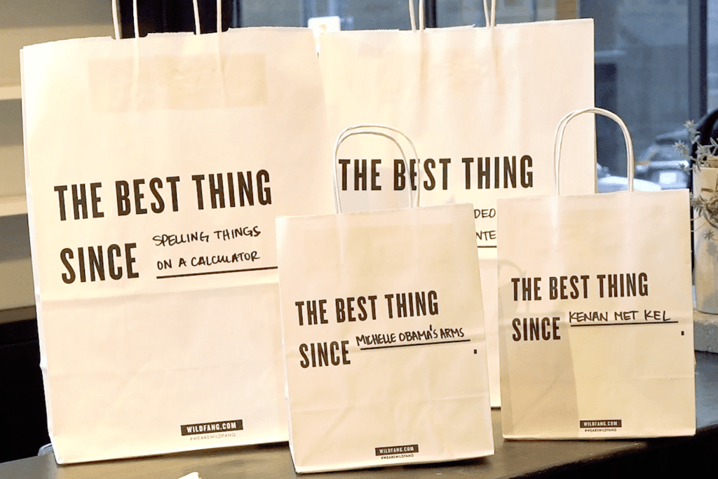 Wildfang customizable shopping bags. The best thing since...